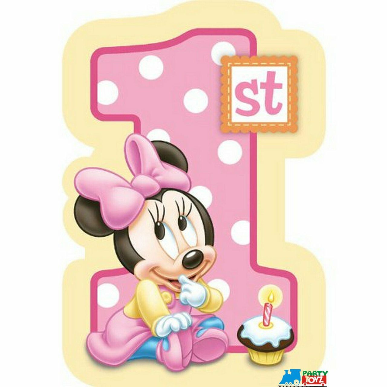 Minnie Mouse 1st Birthday: Minnie Mouse Pack Of 8 Invitations With