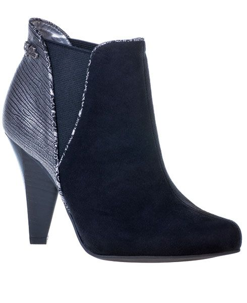 56493edd8db Navy Ollie Dual-Closure Wedge Boot