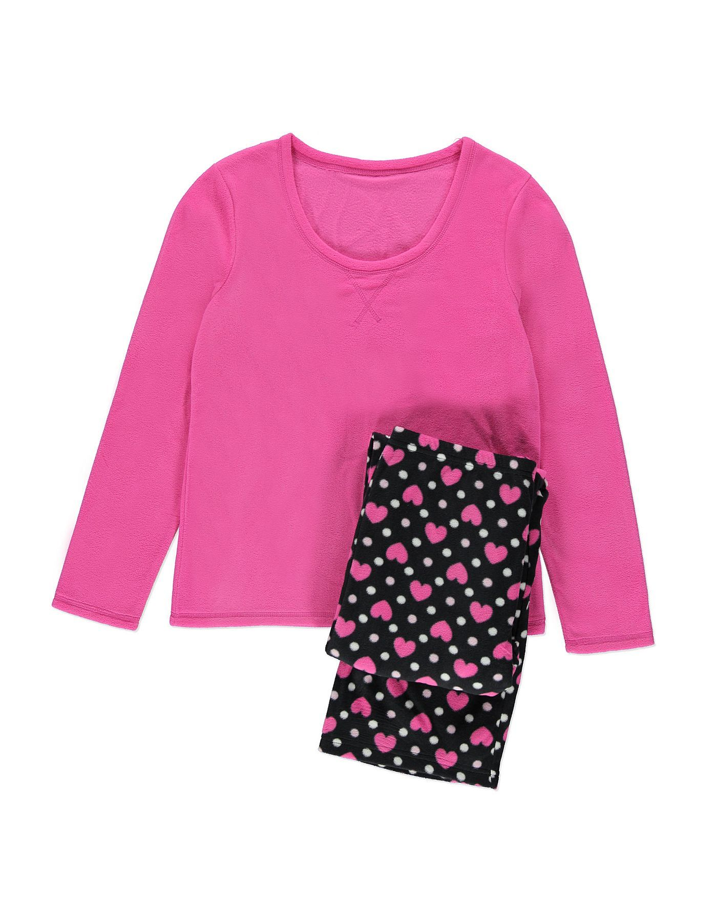 Heart Fleece Long Sleeve Pyjamas Women at ASDA