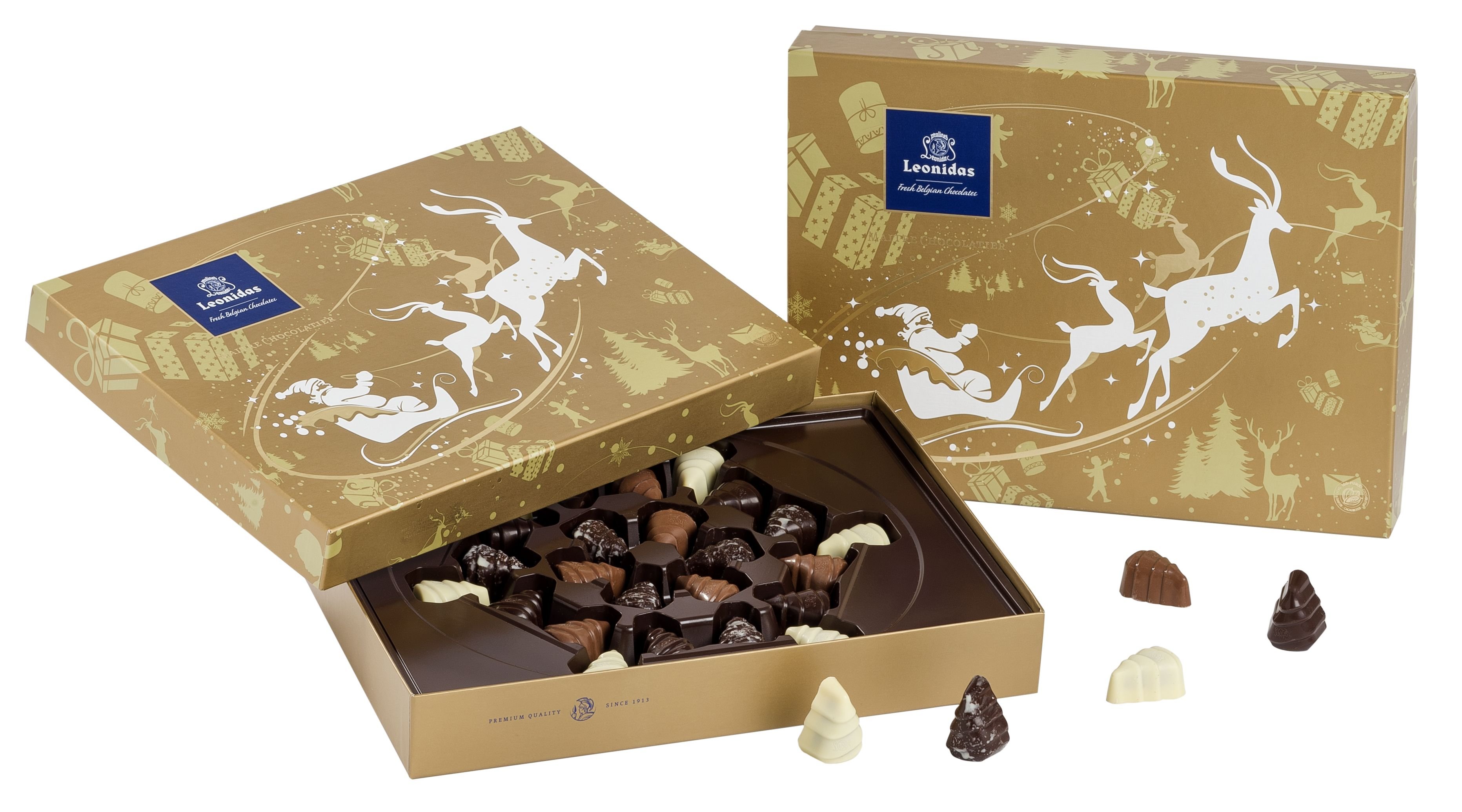 Leonidas Holiday 2015 Gold Box www.leonidas-chocolate.com