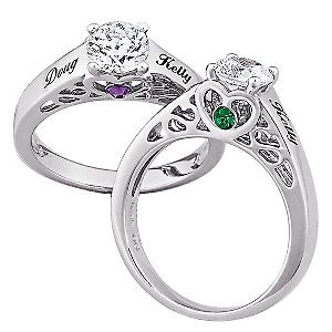 I Want One Sterling Silver Couples Name And Birthstone