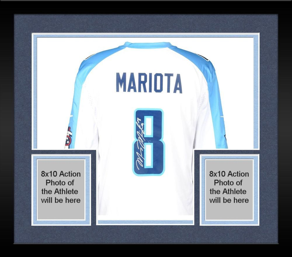 e8dbdc72 Framed Marcus Mariota Tennessee Titans Autographed Nike Game White Jersey