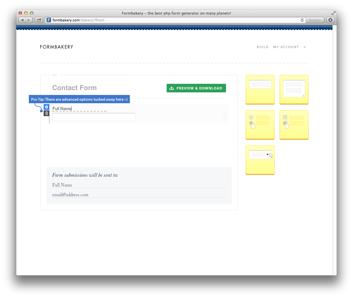 Formbakery A Php Form Builder That Just Works Form Builder Coding Email Form