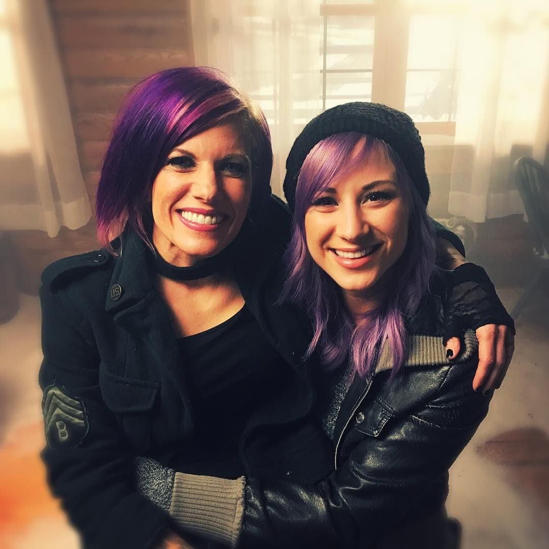 just wrapped a video shoot time for friends and fun jen skillet band jen ledger christian rock bands pinterest