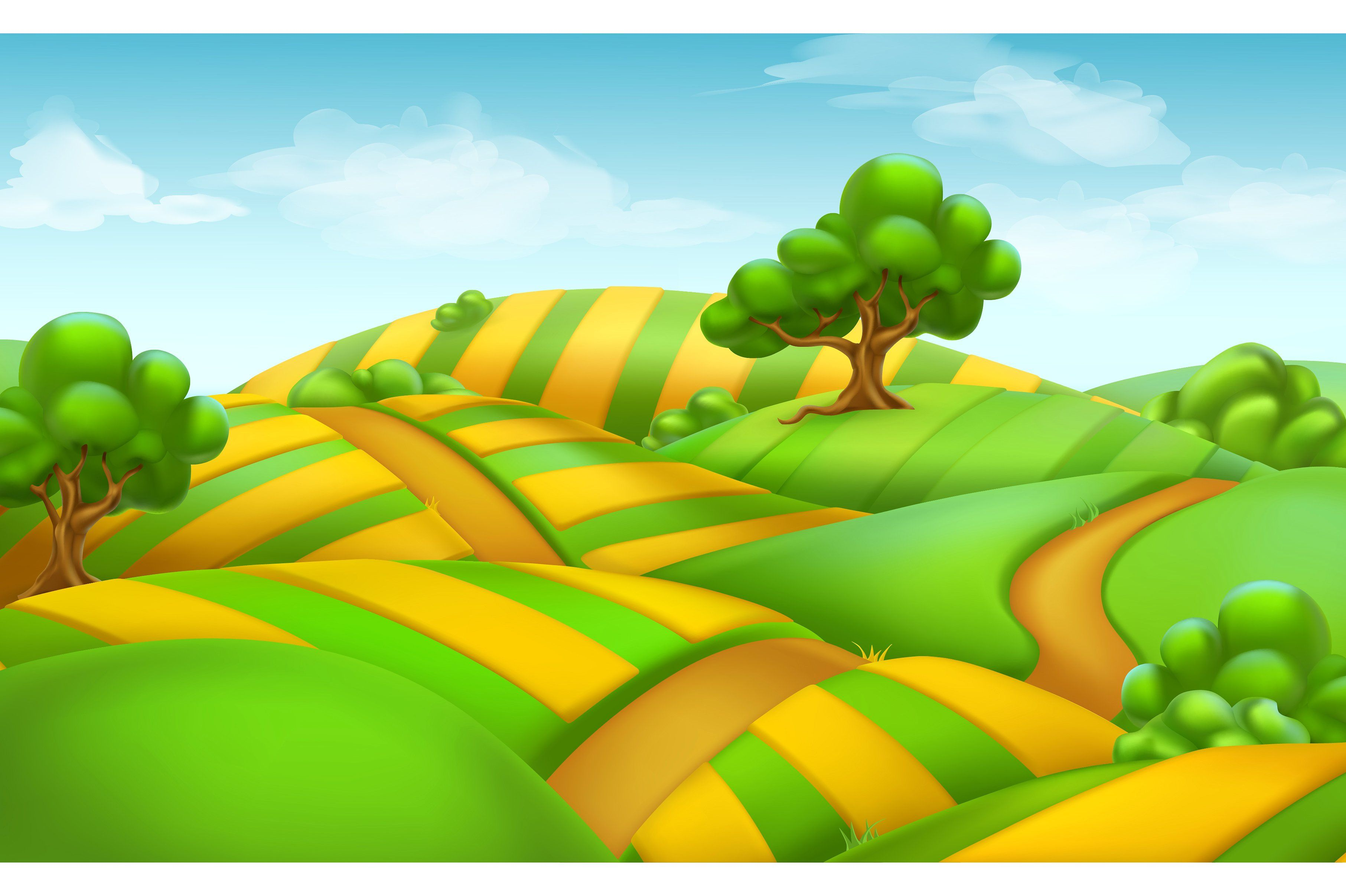farm field landscape vector by allevinatis studio on