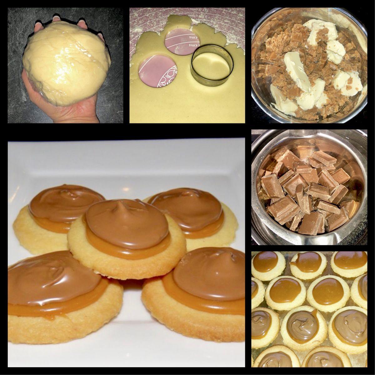 Schoko Karamell Kekse – wie Twix (Chocolate & caramel biscuits)