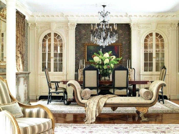 Wohnideen Wohnzimmer im klassischen Stil für eleganten Komfort und