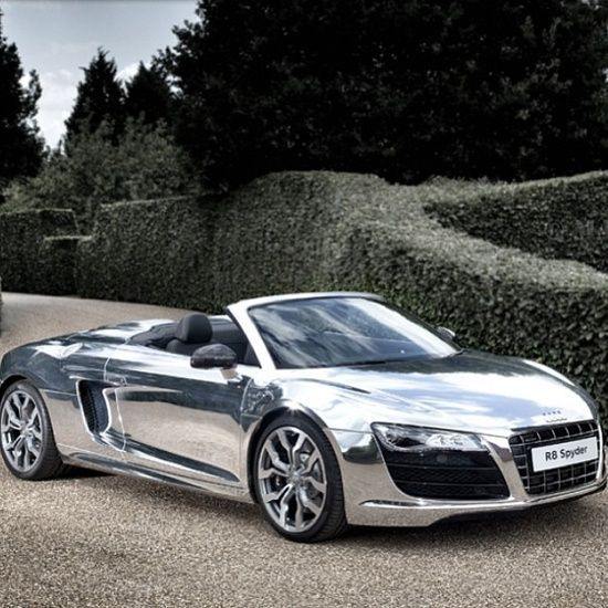 Nice Audi: West coast customs Chrome Audi R8 Spyder  Cars Check more at http://24car.top/2017/2017/05/03/audi-west-coast-customs-chrome-audi-r8-spyder-cars/