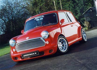 Zeemax Body Kit On A Classic Mini Mini Cooper Red Mini Cooper