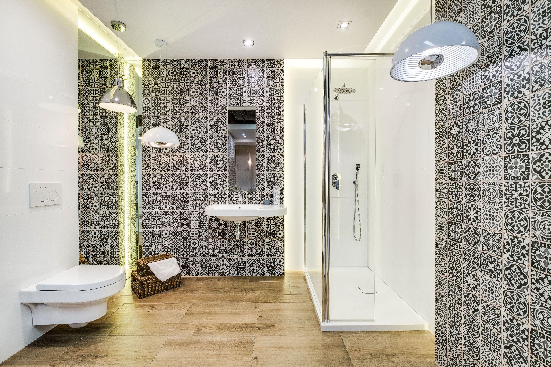 Ekspozycja Max Fliz łazienka Styl Nowoczesny Płytki Ornament