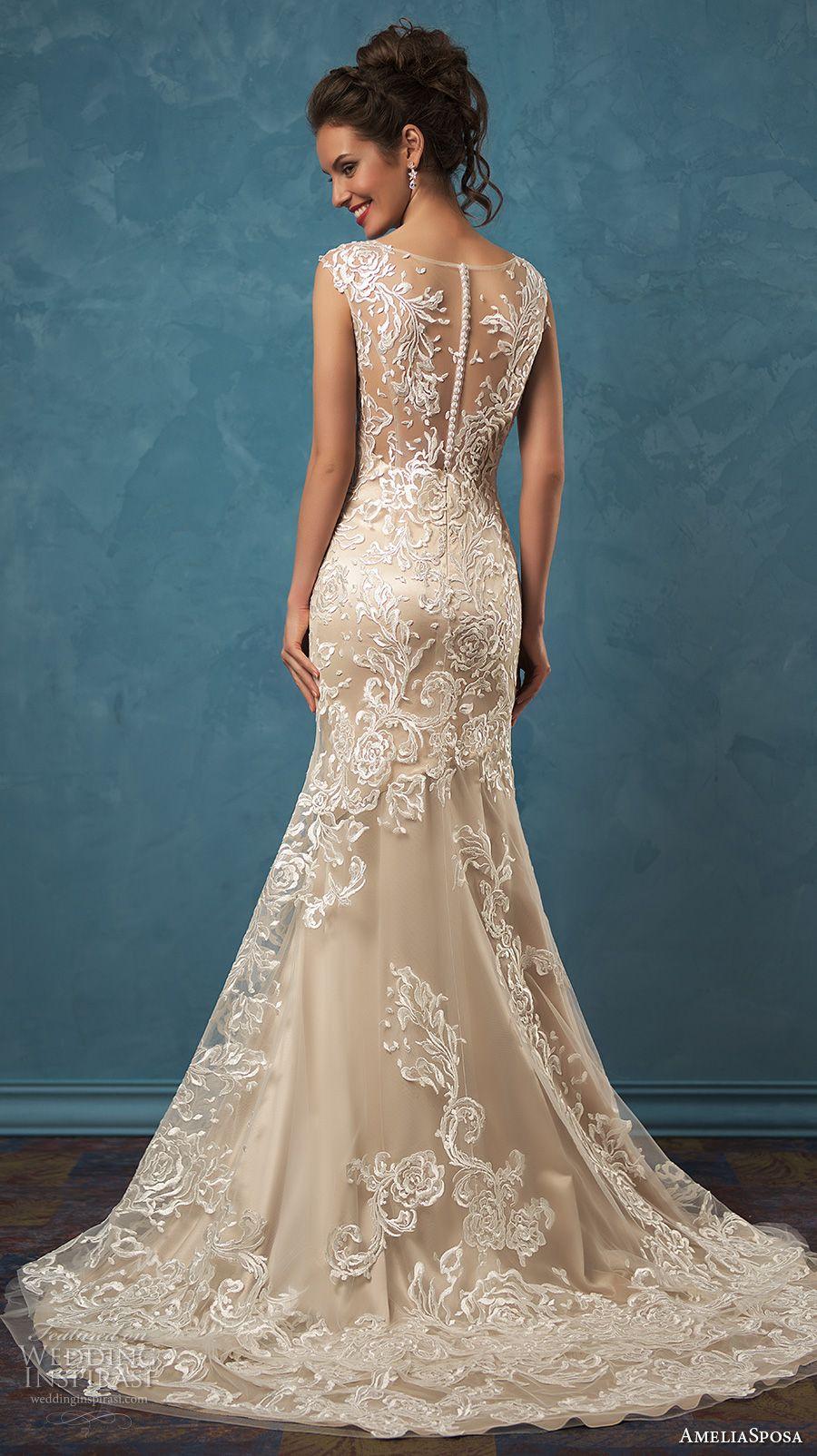 Amelia Sposa 2017 Wedding Dresses | Espalda de encaje y Vestidos de ...