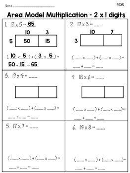 singapore math area model multiplication sample 4th. Black Bedroom Furniture Sets. Home Design Ideas