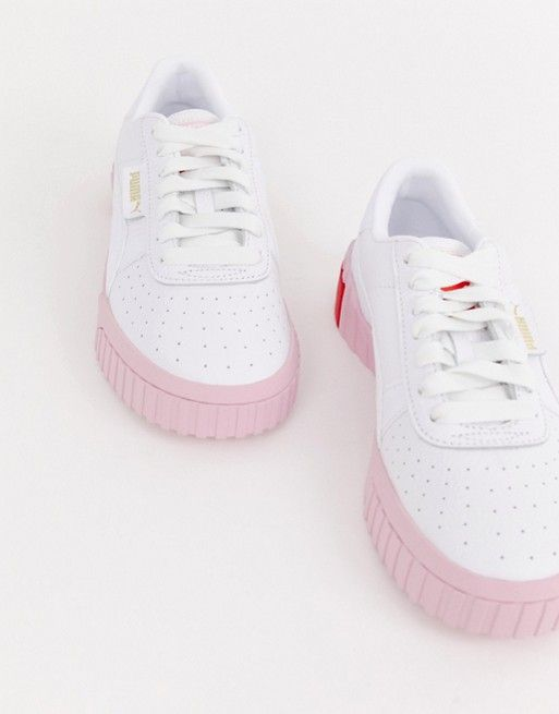 Puma | Puma Cali white and pink trainers | Pink sneakers ...