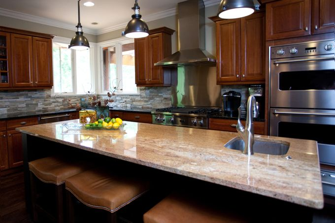 This Traditional Cherry Kitchen Was Updated By Replacing