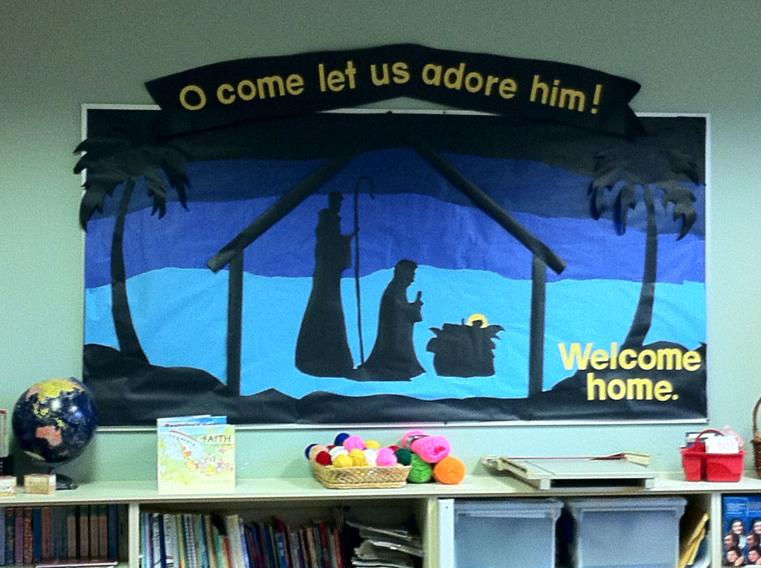 Our Christmas Bulletin Board At St Stephen Catholic