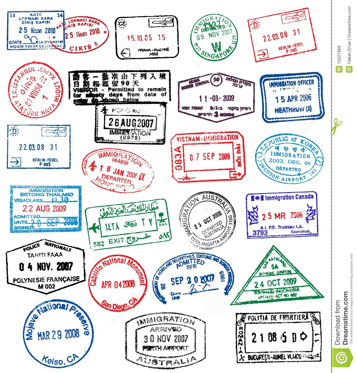 passport stamps - Buscar con Google | Printables ...