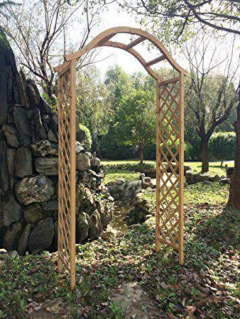 Marko Gardening Garden Arch Wooden Pergola Feature Trellis Rose