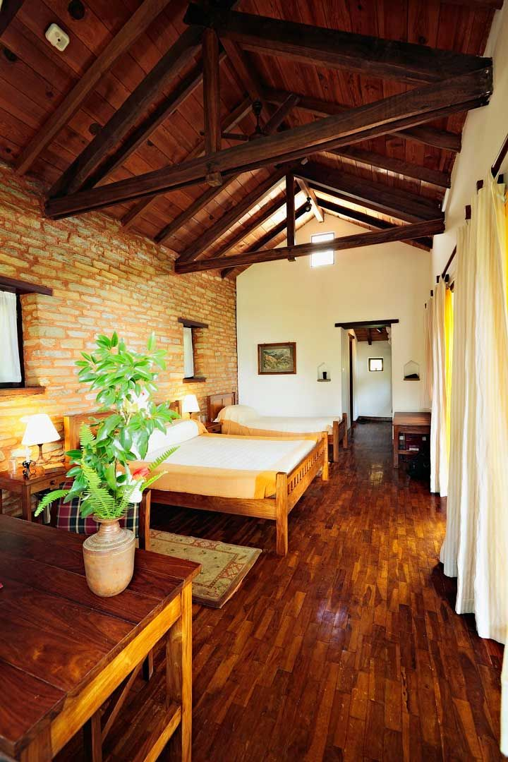 The Rooms At Tiger Mountain Pokhara Lodge Are Rustic And