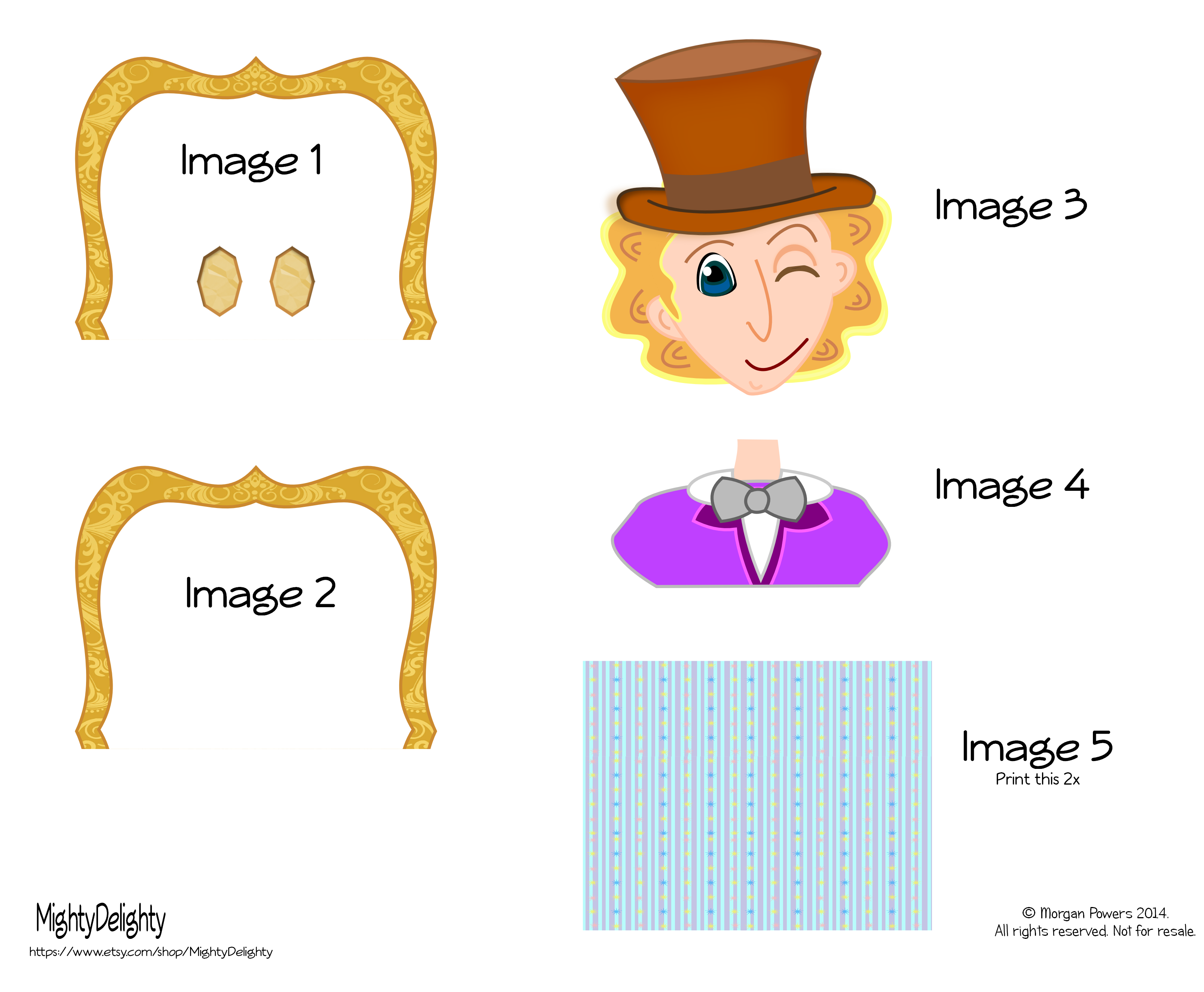Mighty Delighty Willy Wonka Party Printables
