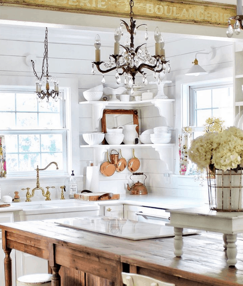 Vintage Home Simply French Market Tour French Country Kitchens Cottage Kitchens Kitchen Style