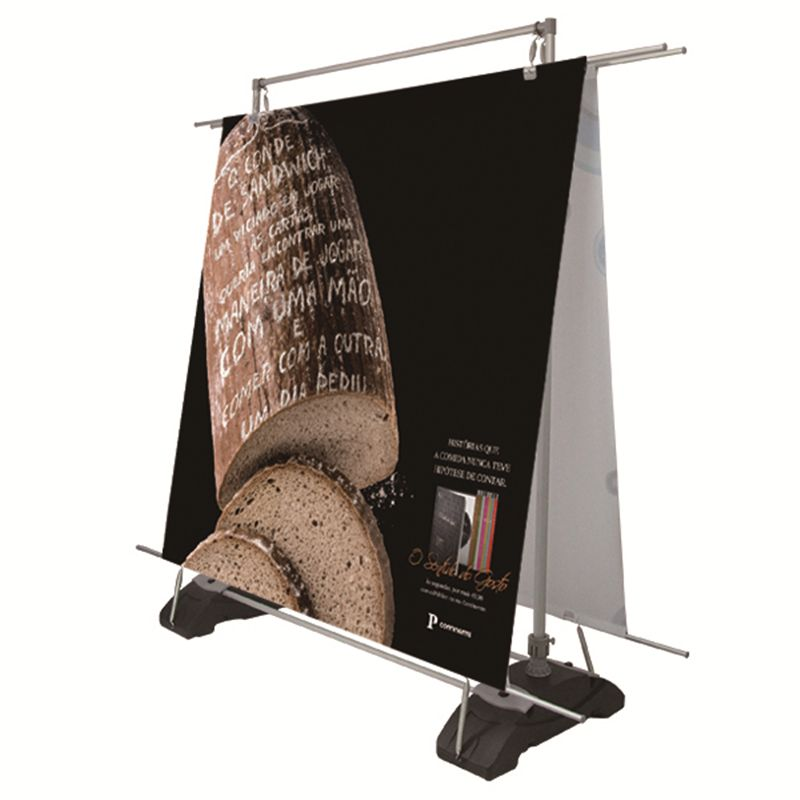 Outdoor Wind Proof Poster Stand Advertising Banner Display Boards Poster Rack With Large Water Tank Feet Doub Banner Advertising Display Board Outdoor Banners