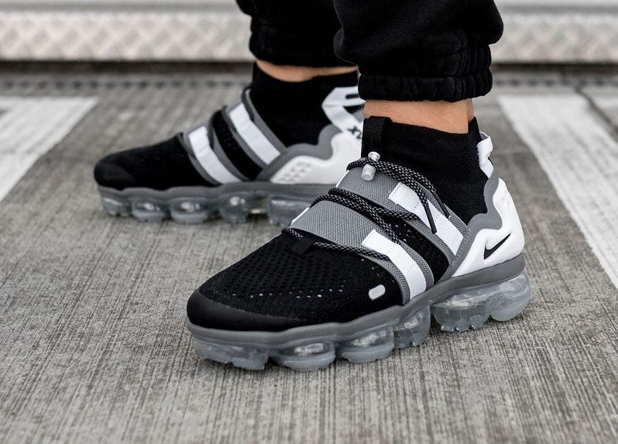 b6b3f8a0a94a4 Nike Air Vapormax Flyknit Utility  Black Cool Grey White