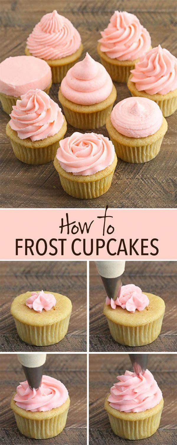How to Frost Cupcakes: Step-by-Step Tutorial with Video! #cupcakecakes