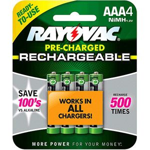 Rayovac Rechargeable Aaa Batteries 4 Pack Triple A Batteries Walmart Com Nimh Rechargeable Batteries Nimh Battery