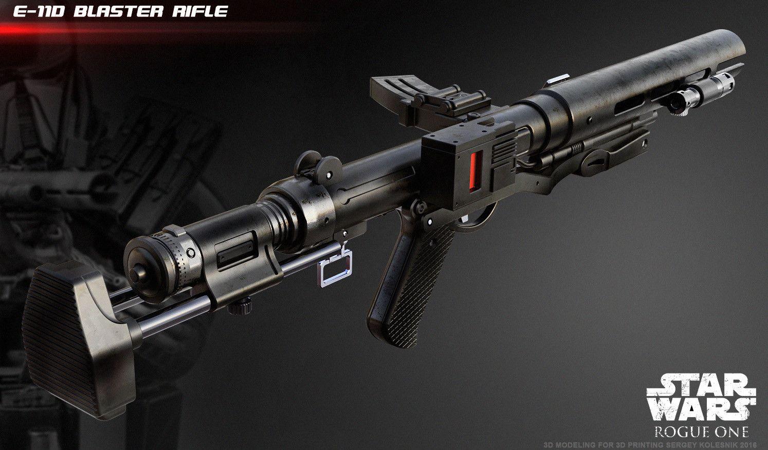 ee 3 blaster rifle for 3d printing. Black Bedroom Furniture Sets. Home Design Ideas