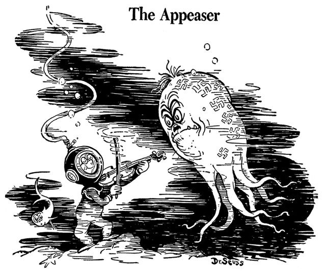 Dr Seuss Did Not Approve Of The Appeasement Policies Of Allied