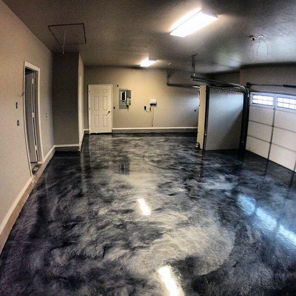 Cool Epoxy Grey Paint Ideas For Garage Floors More & 90 Garage Flooring Ideas For Men - Paint Tiles And Epoxy Coatings ...