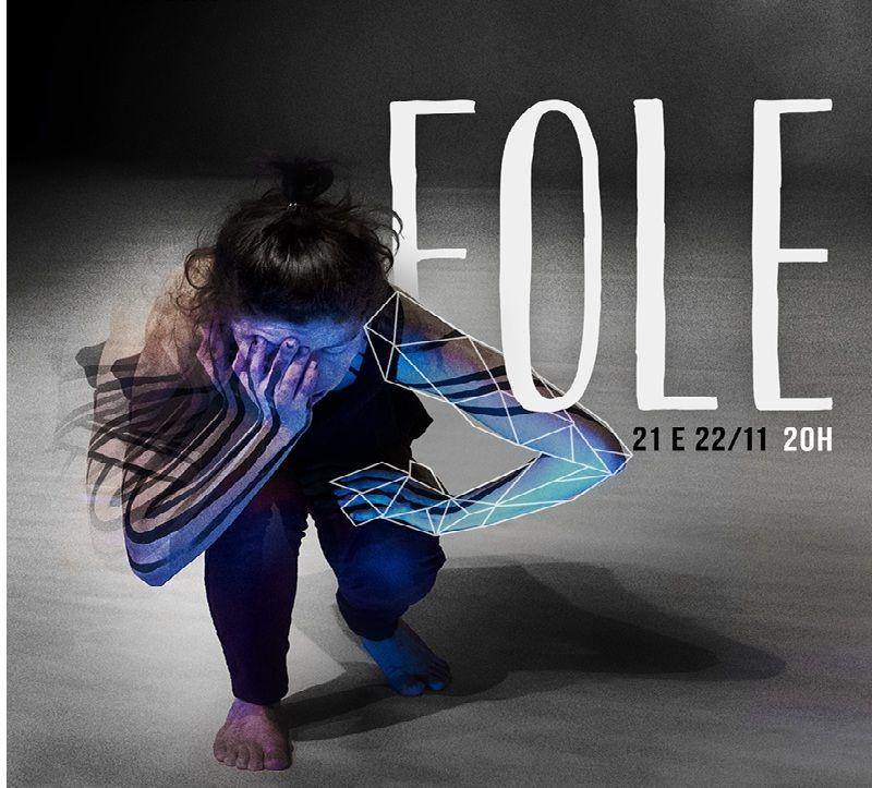 """Dançarina sobe ao palco com o seu espetáculo """"Fole"""". Ingressos custam a partir de R$ 3."""