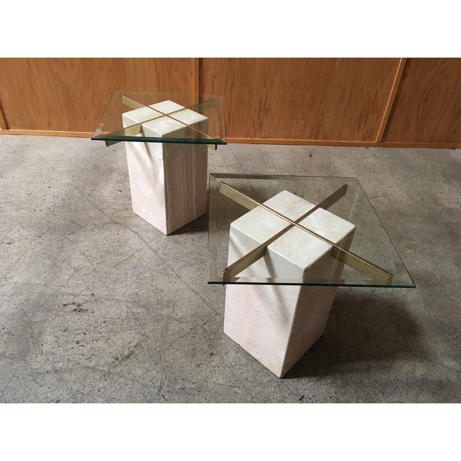 Artedi Travertine Tables A Pair Chairish Furniture Details Design Furniture Design Inspiration Diy Molding [ 1600 x 1600 Pixel ]