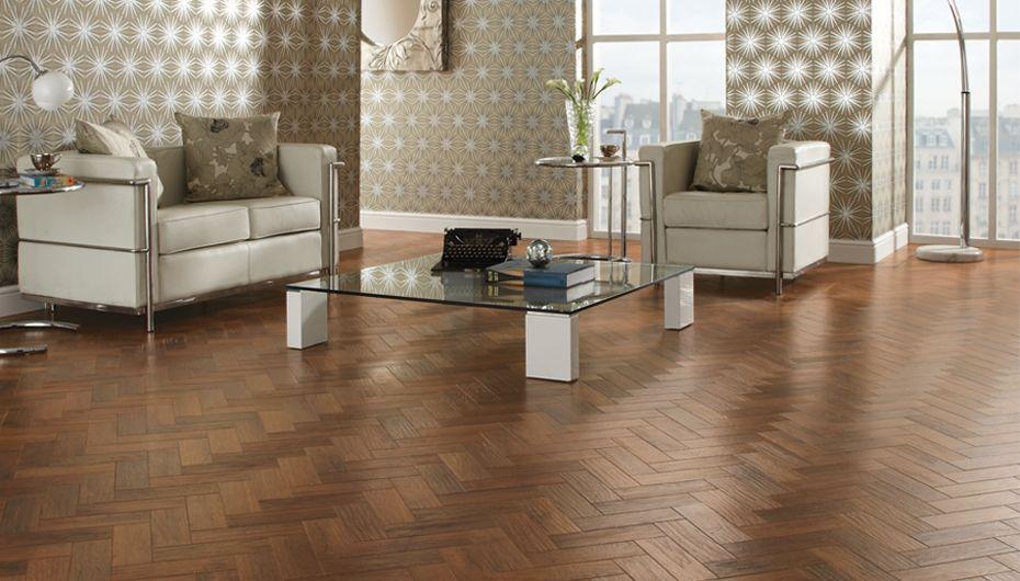 Chic parquet living space Flooring, Basement flooring