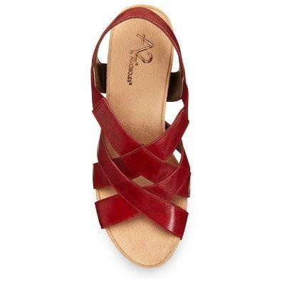 519db09d0f8f Women s A2 by Aerosoles Swim Plush Wedge Quarter Strap Sandals - Red 10.5