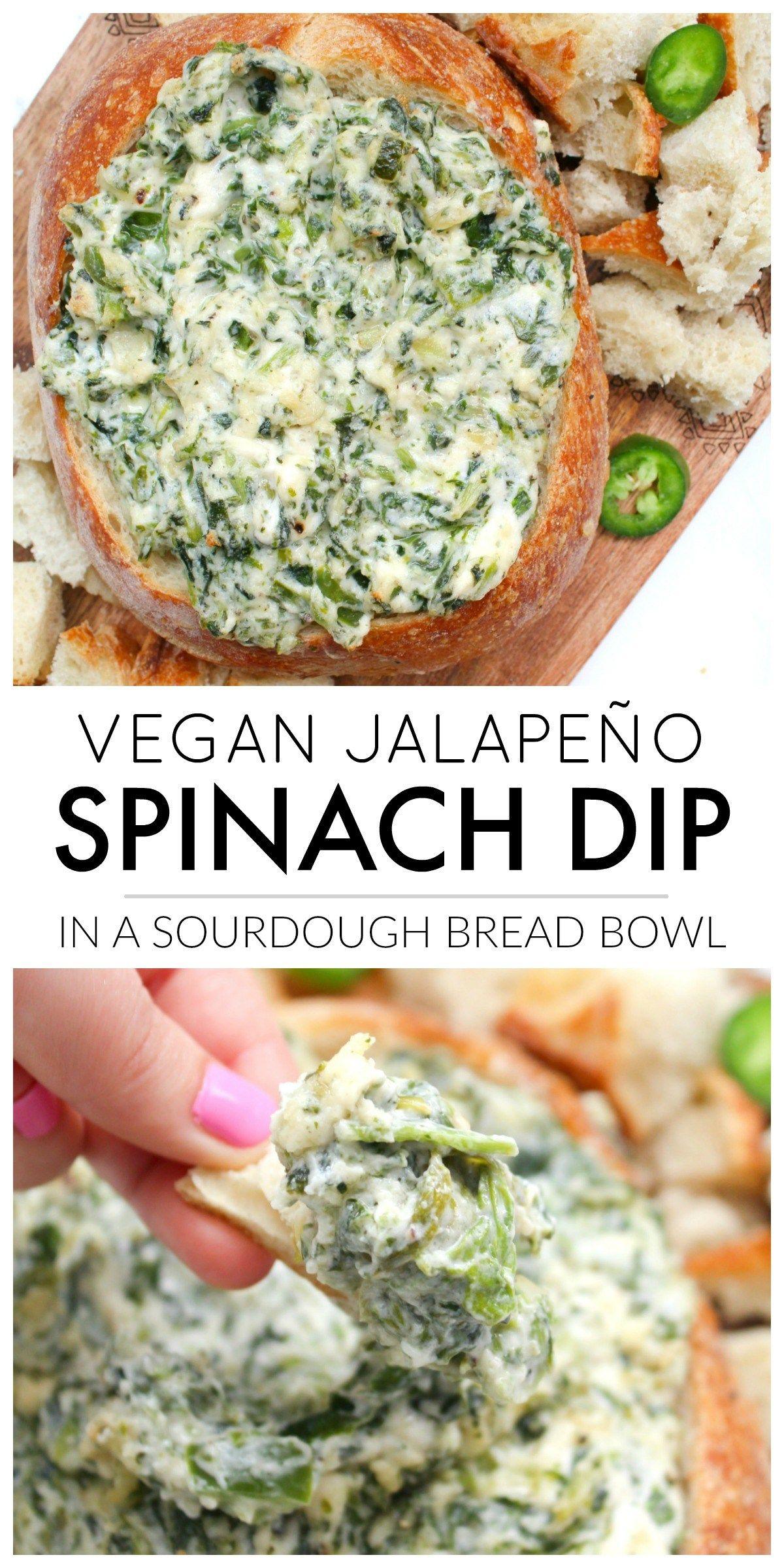Vegan Jalapeño Spinach Dip