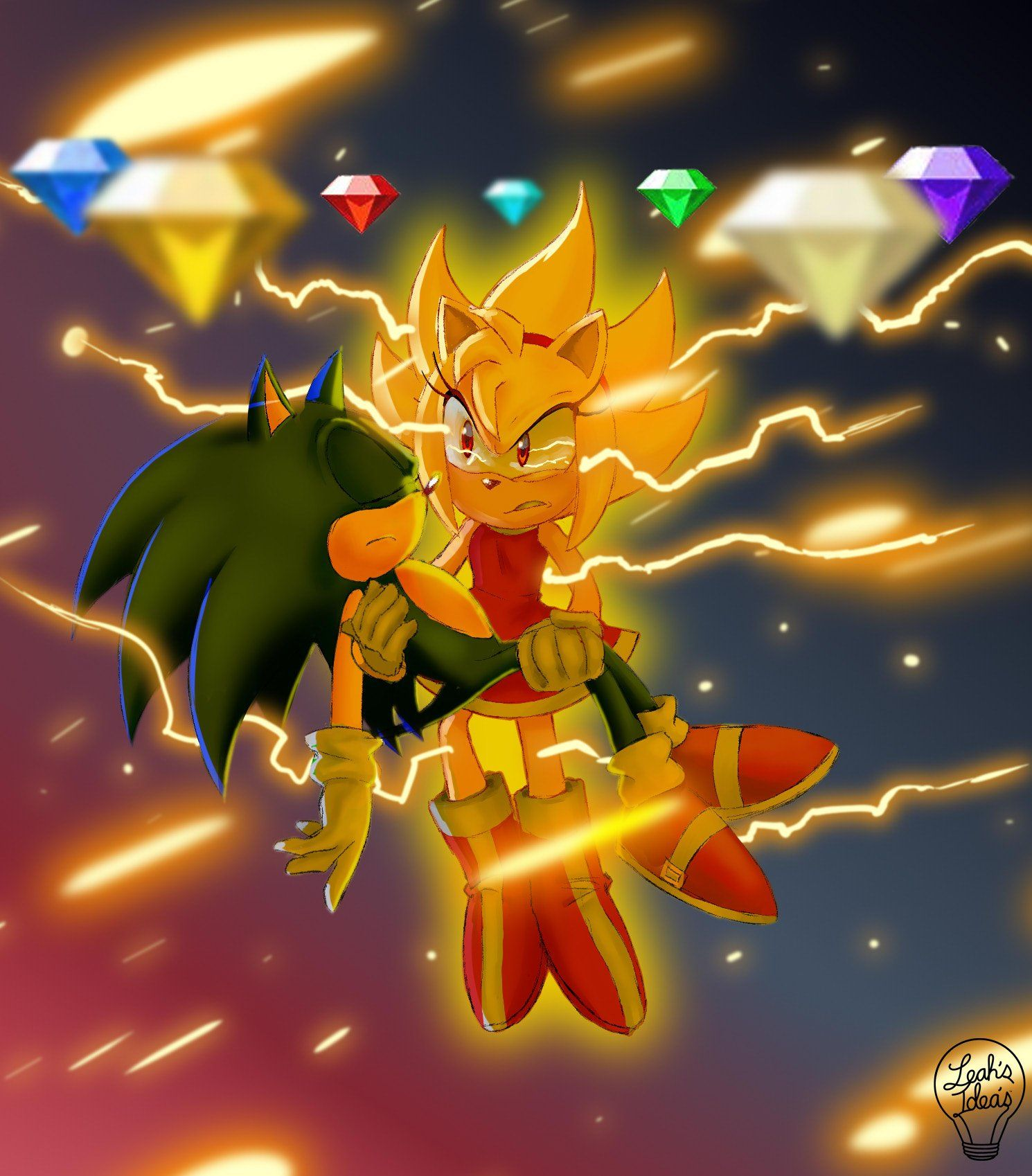 Super Amy Born From Rage Sonic The Hedgehog Hedgehog Art Amy The Hedgehog Sonic Fan Characters