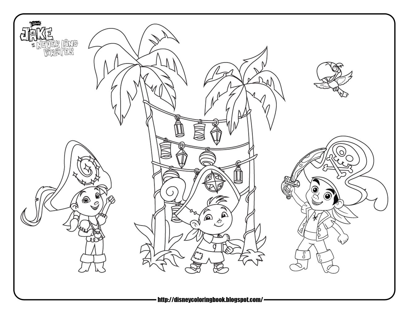 jake and the neverland pirates coloring pages Lukes 3rd