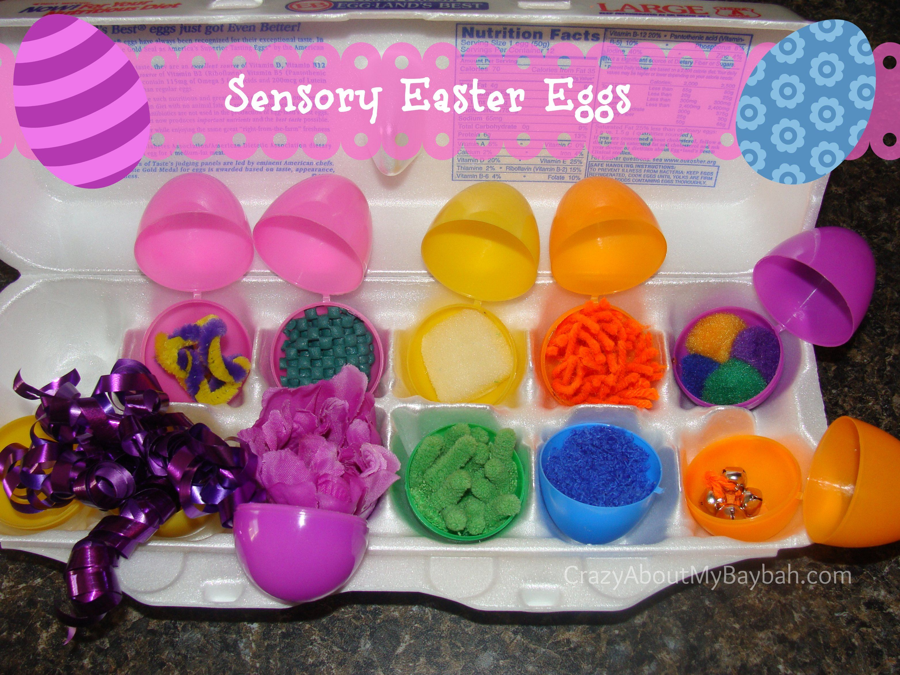 Fun Easter Activities for Kids perfect for your one  two year old Sensory Easter Eggs   Easter Activities for Kids   Easter  . Easy Easter Crafts For Two Year Olds. Home Design Ideas