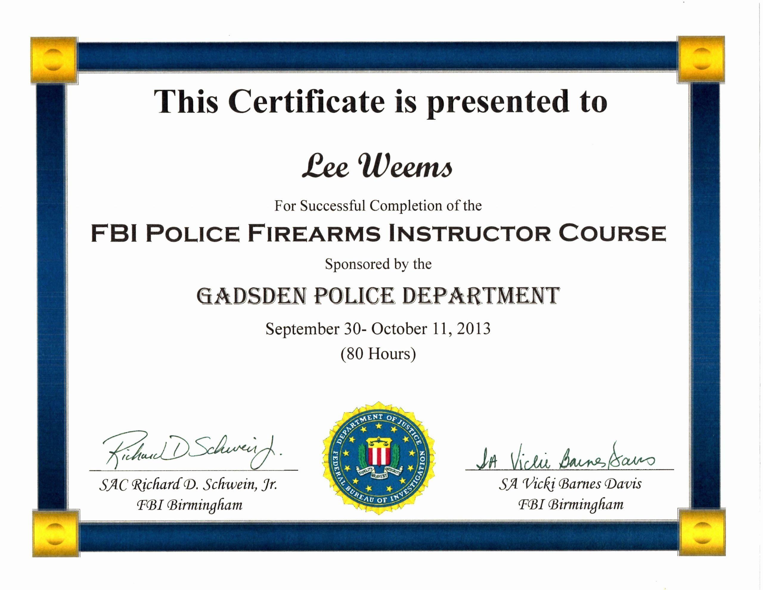 20 Firearms Training Certificate Template In 2020