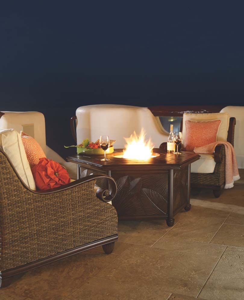 St. Martin Seating Outdoor Living Room Fire Table