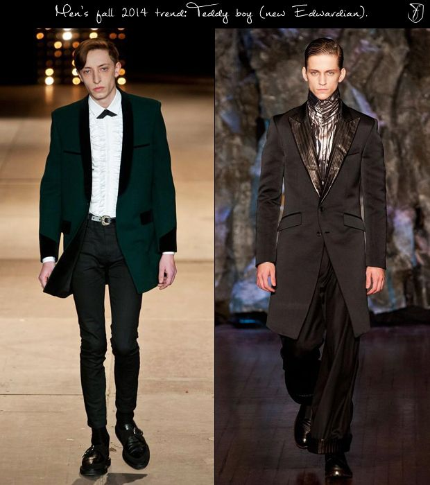 The new teddy boy style returned for fall and winter 2014 ...