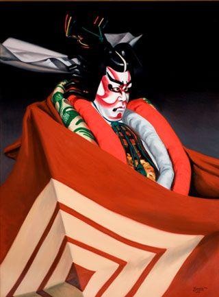 Shibaraku 歌舞伎 隈取り 日本 伝統