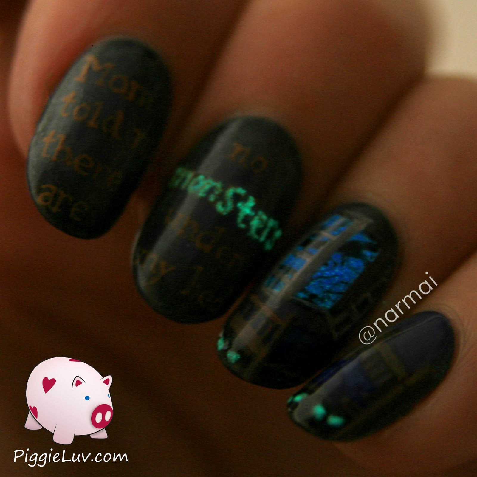 Monsters under the bed, glow in the dark nail art! | Nails I like ...