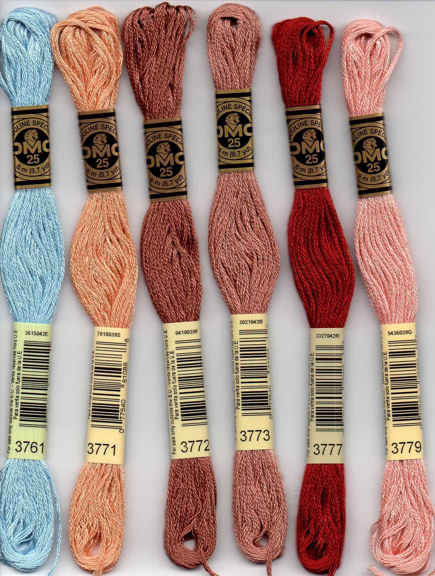 DMC Stranded fil de coton couleur 3731 pour broderie et point de croix