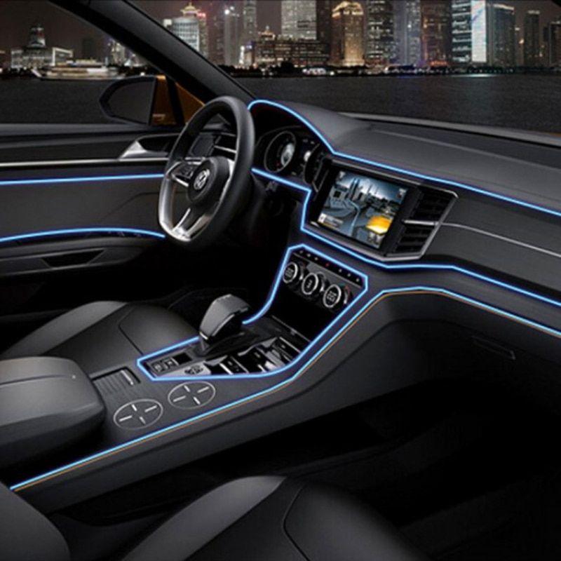 3m LED Car Door Console Seat Dash Board Light Flexible Soft Tube Strip Lamp New
