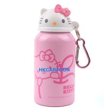 US VERSION SANRIO HELLO KITTY 350ML HEAD SHAPE ALUMINUM KETTLE TRAVEL BOTTLE