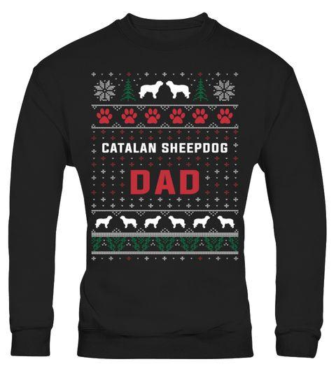 Catalan Sheepdog Dad Christmas Sweater