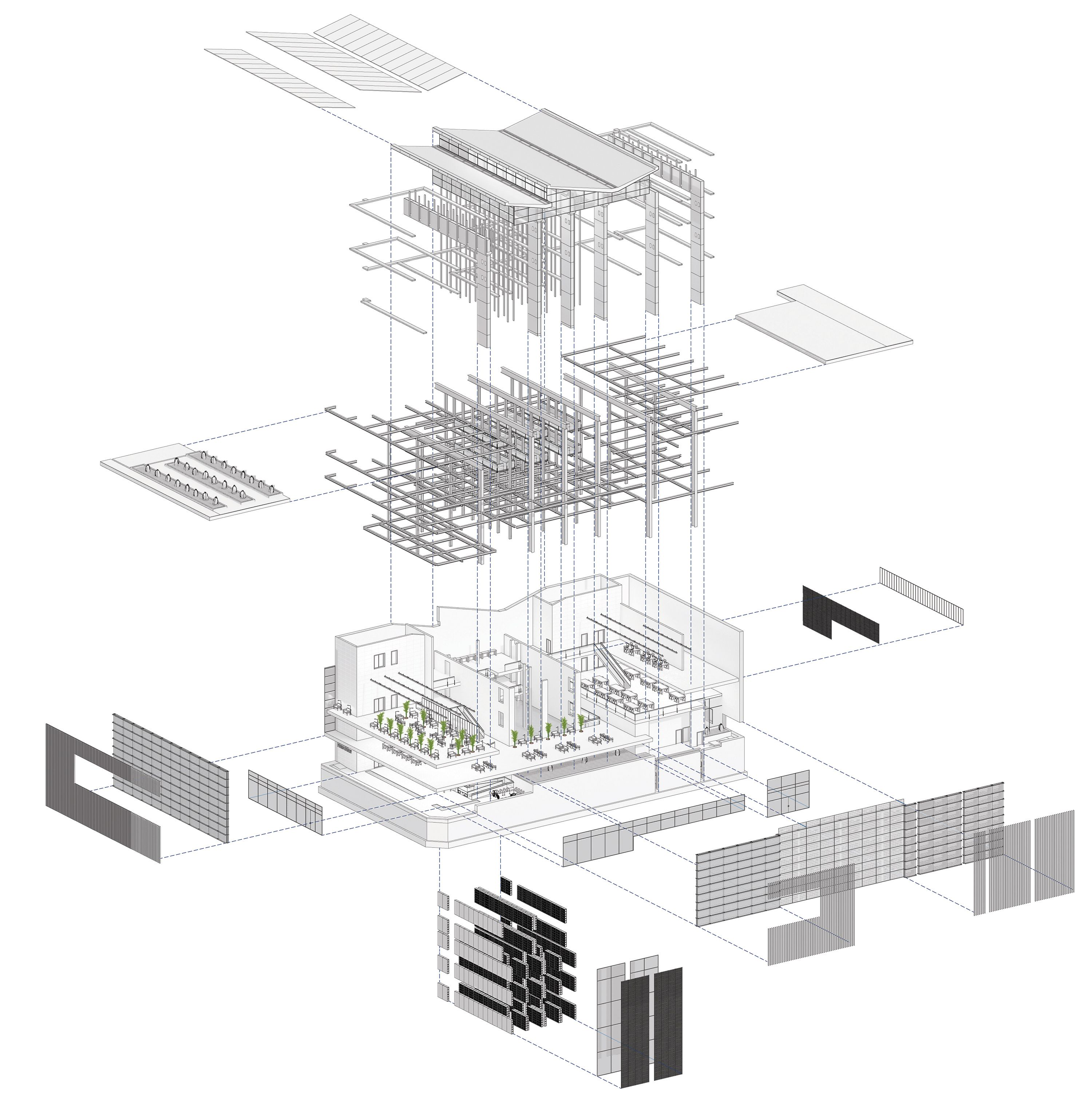 Axonometric architecture google search drawings for Architektur axonometrie