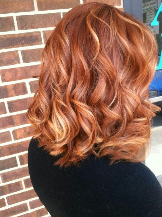 Good Transition Color Between Dark Red And Blonde Copper Hair For Auburn Ombre Brown Amber Balayage Hairstyles
